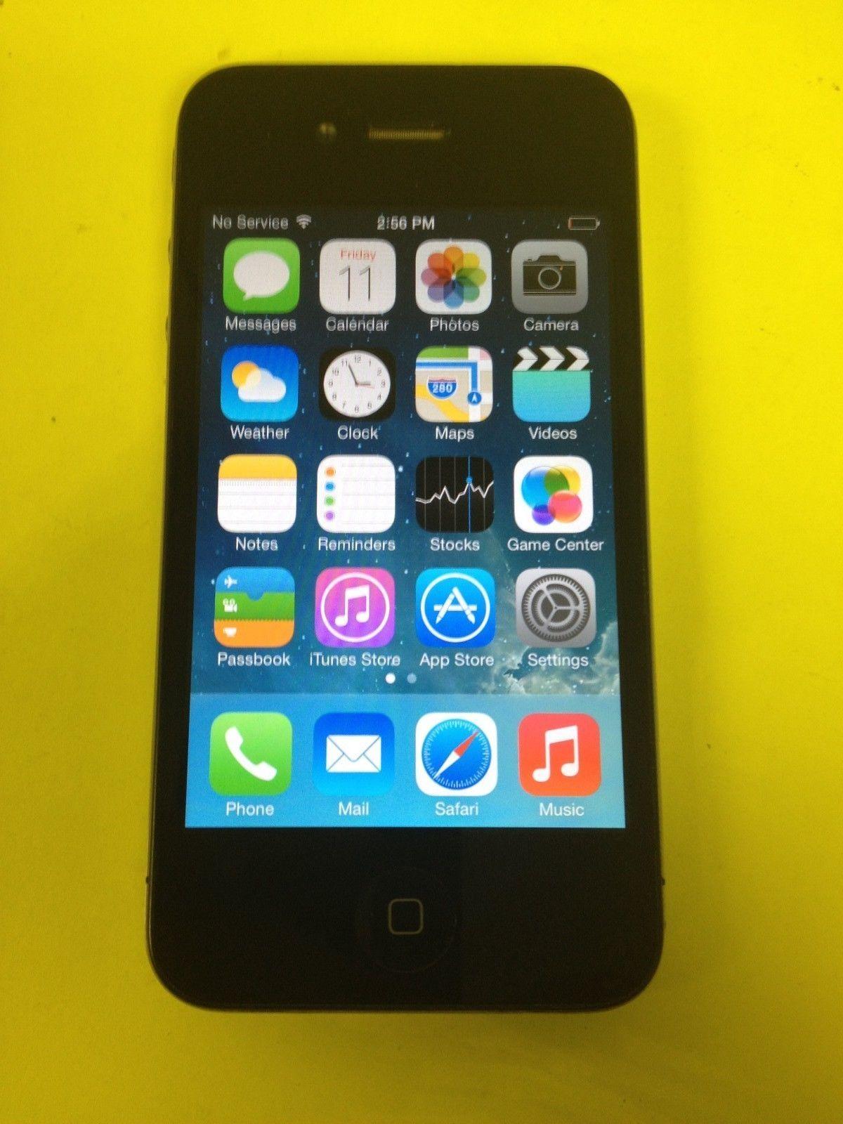 Apple iphone 4 32gb black att smartphone ebay