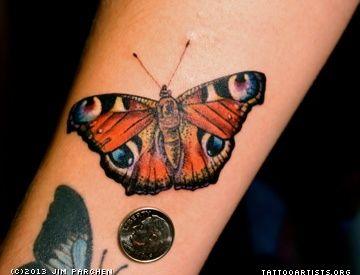 Peacock Butterfly Tattoo Butterfly Tattoo Peacock Butterfly Tattoos