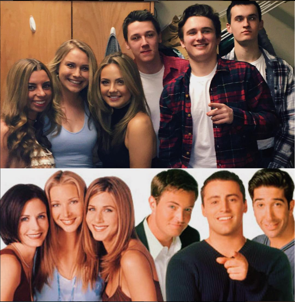 imitation friends cast ! easy diy college halloween group costume ...