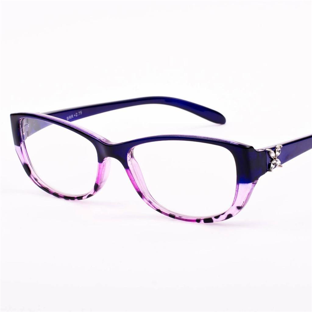 New Womens Ladies Vintage Retro Diamante Purple Reading Glasses 20 ...