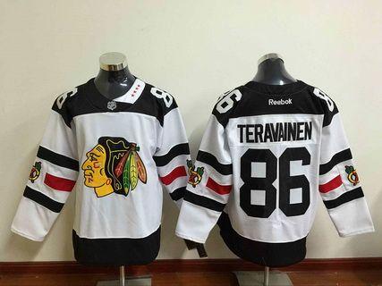 Men's Chicago Blackhawks #86 Teuvo Teravainen Reebok White 2016 Stadium  Series Premier Jersey