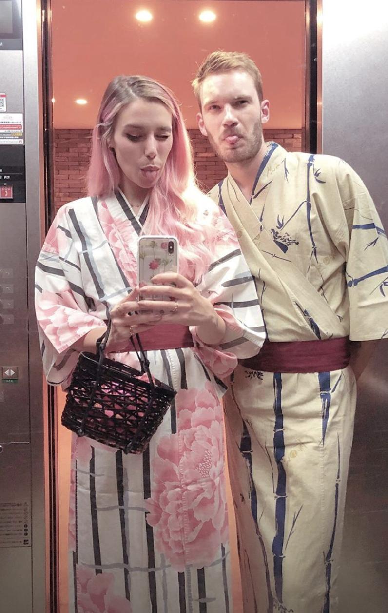 Marzia Bisognin and Felix Kjellberg | yukatas | Hakone ...