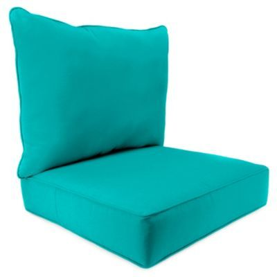 140 Sunbrella 24 Inch X 24 Inch 2 Piece Deep Seat Chair Cushion In
