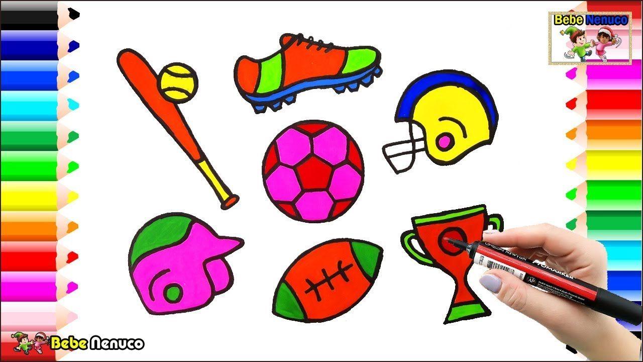Cómo Dibujar set para el Deporte - Dibujos para colorear:Fútbol ...