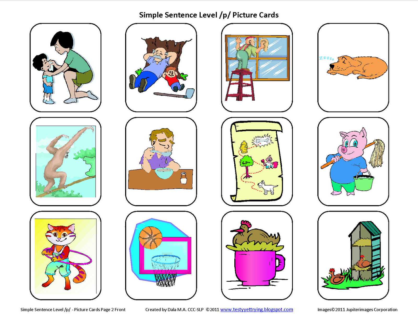 Speech Therapy Articulation Cards And Word Lists With