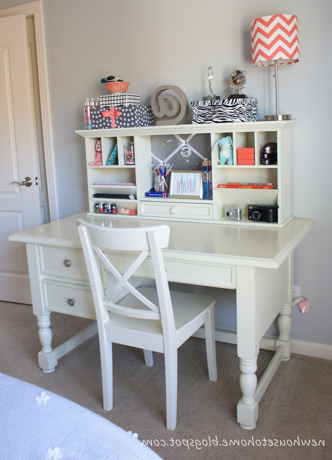 working and desk classic white for glass pink safe unique doors chair style wooden copy seat best kid girls with hutch