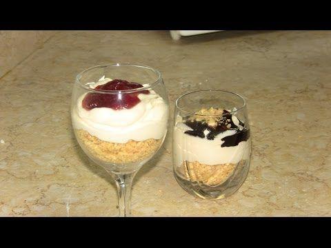 كاسات تشيز كيك حلا سهل في 10 دقائق مطبخي الصغير Recipes Food Desserts