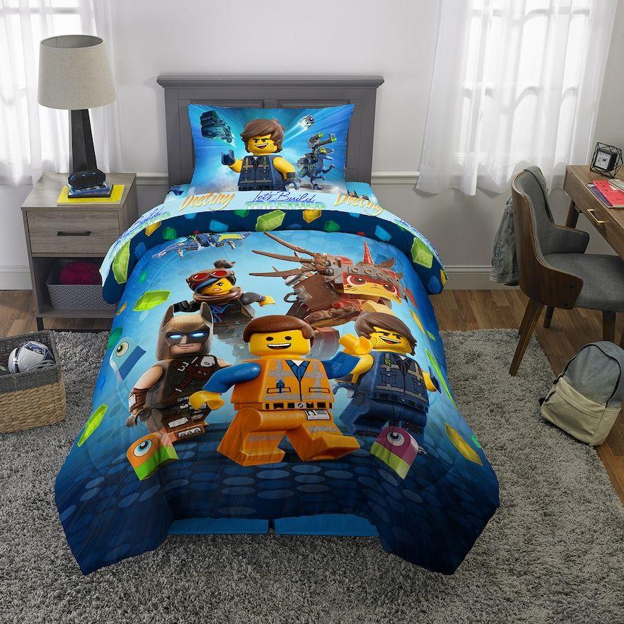 Lego Movie 2 Let S Build Together Reversible Bedding Set In 2020 Reversible Bedding Kids Bedding Full Bedding Sets