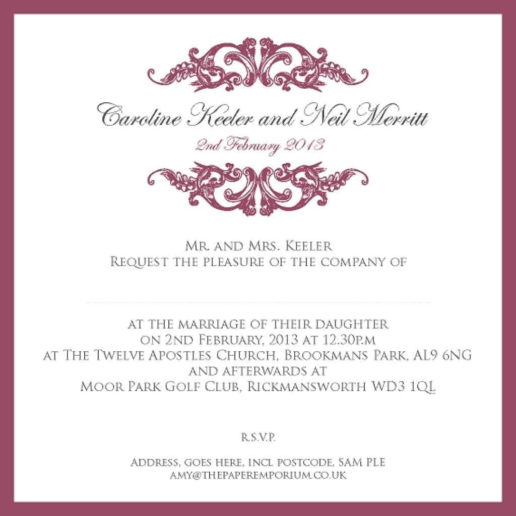 Wedding Invitations Spanish Wording: Proper Wording For Wedding Invitations
