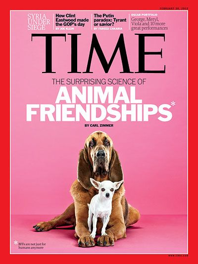 TIME Cover: The Surprising Science of Animal Friendships | Pets and ...