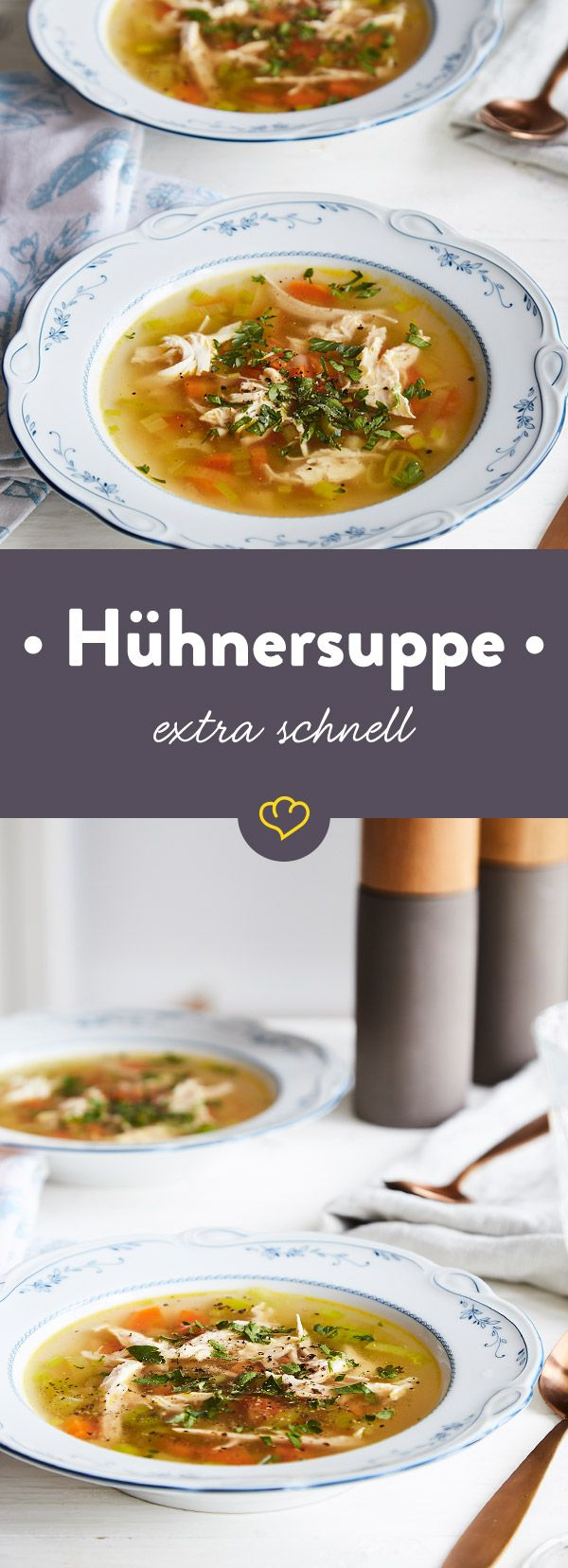 Schnelle Hühnersuppe Ohne Nudeln Rezept Foodies And Drinks