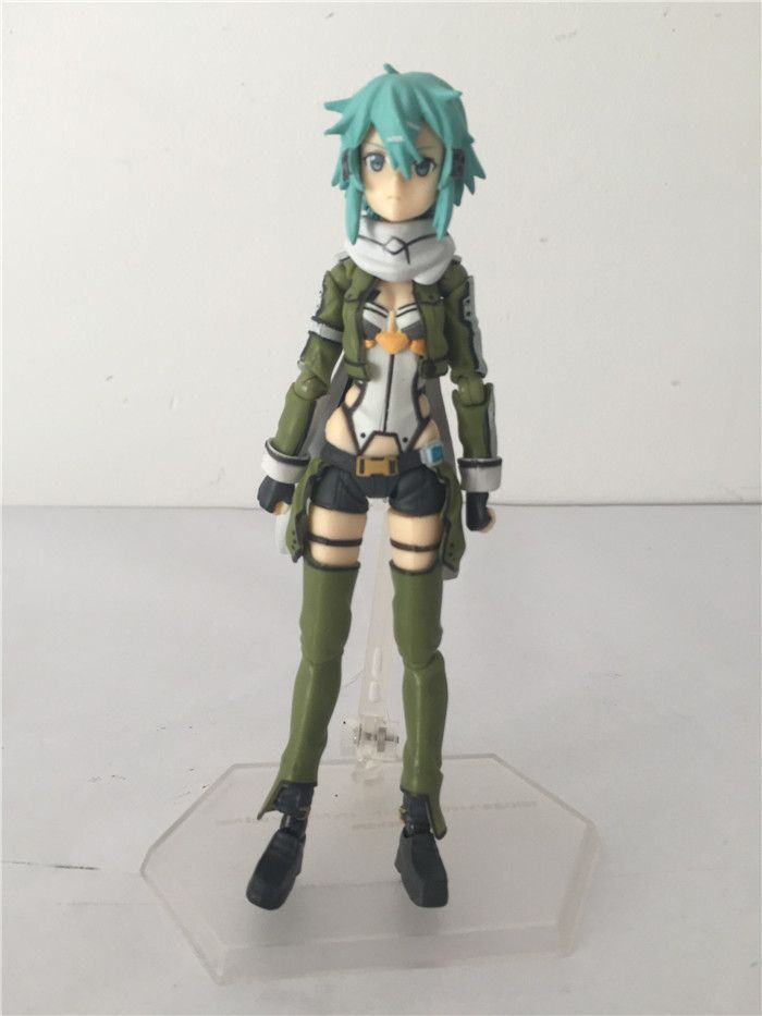Figma 241 Sword Art Online Sao Sinon Anime PVC Action Figure Collection Model Brinquedos Kids Movies Free Shipping