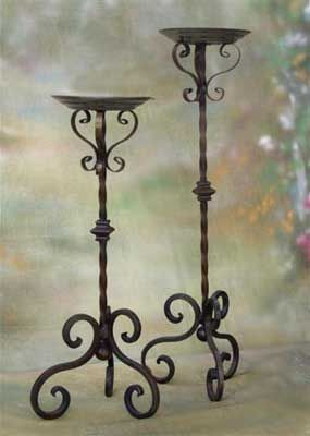 Mancino Iron Works Candelabra Center A Wrought Iron