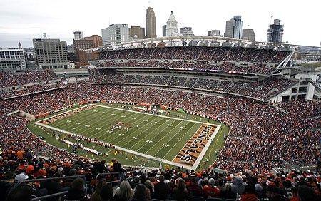 Paul Brown Stadium, home of the Cincinnati Bengals clflorals