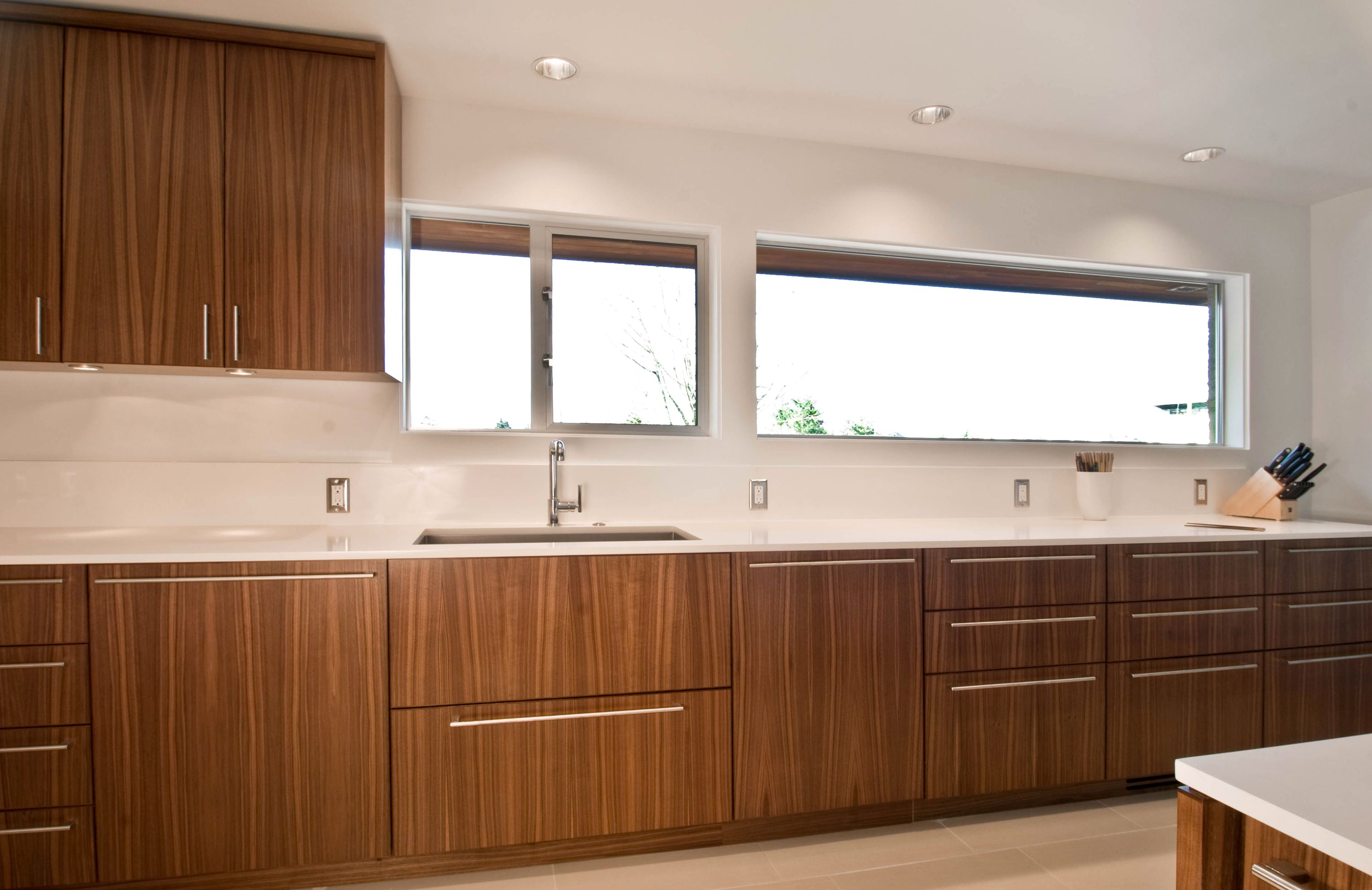 Modern Walnut Kitchen Design By Build Llc Cabinetry By Special Projects Division Walnut Kitchen Kitchen Remodel Design Modern Kitchen