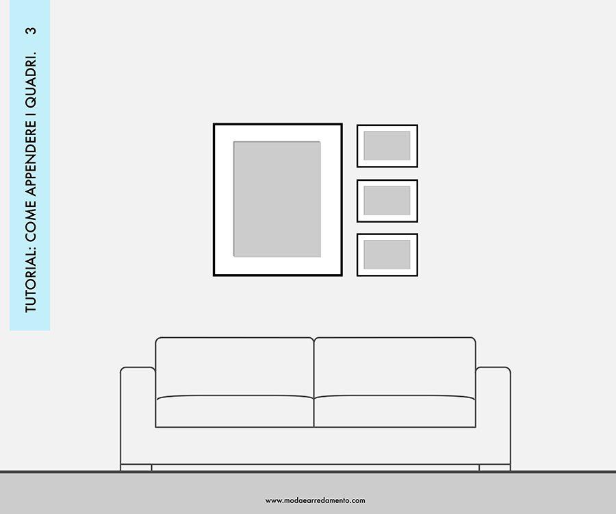 Decorare le pareti del soggiorno con foto e quadri: composizione 3 ...