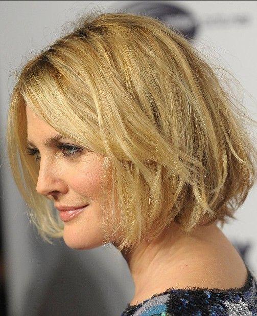 Drew Barrymore Short Hairstyles Popular Haircuts Medium Length Hair Styles Medium Hair Styles Thick Hair Styles