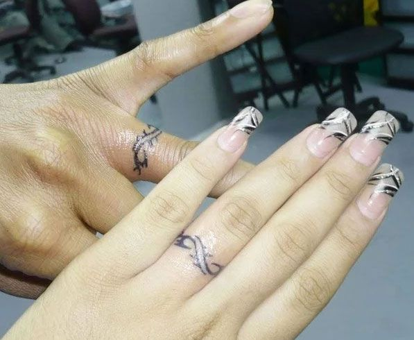 Photo of Tattoo wedding rings: the new way of promising vows – fashion, jewelry, make-up, shoes, tattoo models