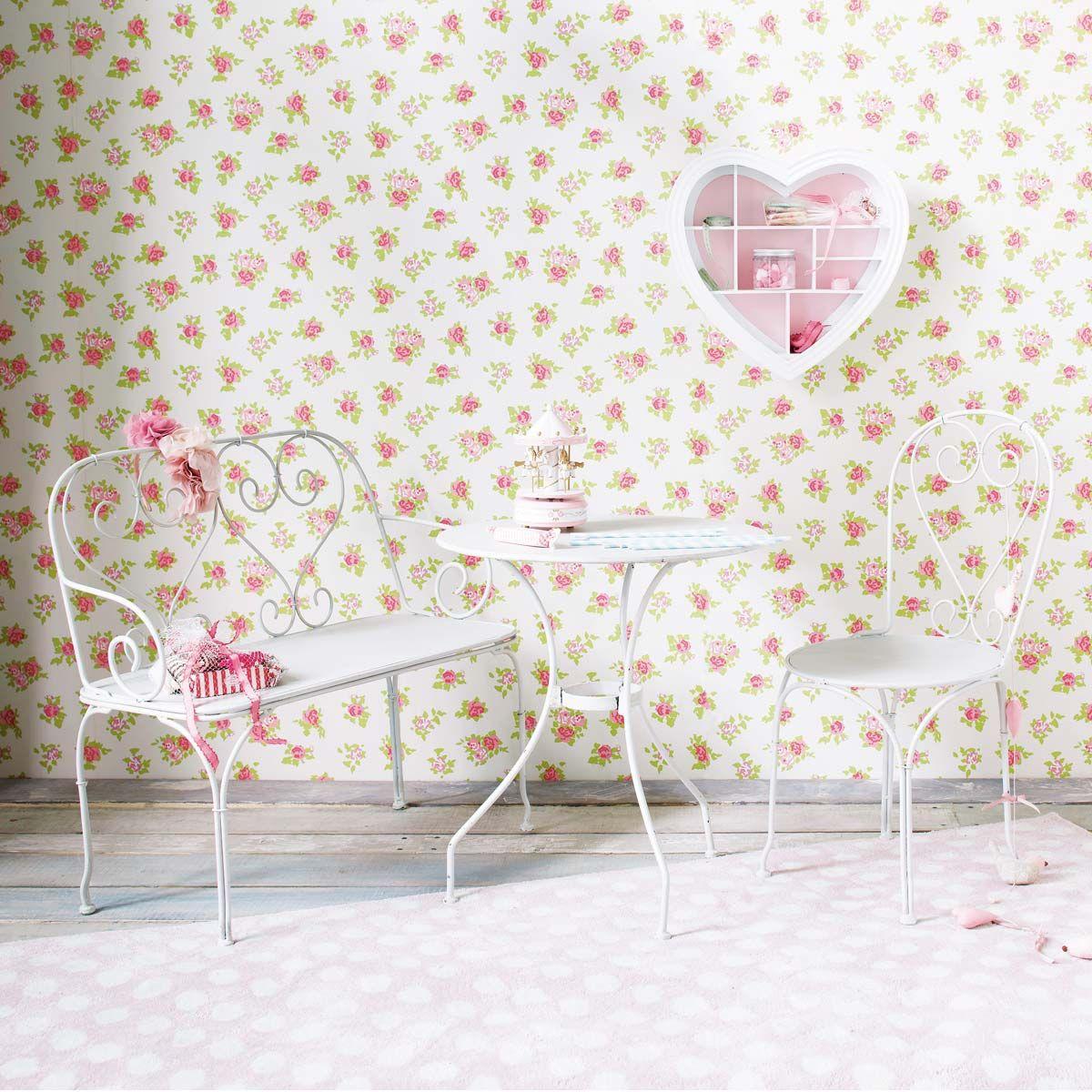 banquette de jardin enfant fer forg ivoire saint germain d co inspiration pinterest fer. Black Bedroom Furniture Sets. Home Design Ideas