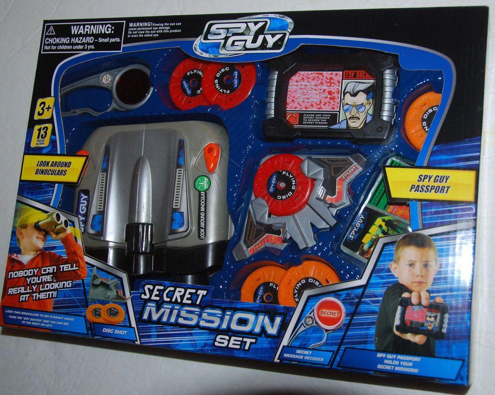 Spy Guy 10 Piece Toy Secret Mission Set with Look Around Binoculars Binoculars