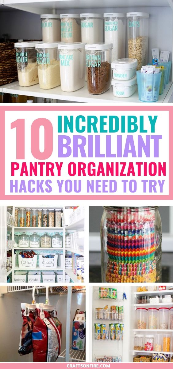 These Pantry Organization Ideas are the BEST! It solved SO many of my problems and I had to share this with you guys! Fantastic ways to store and organize the things in your pantry without breaking the bank. #organization #storagehacks #pantry #summerhomeorganization