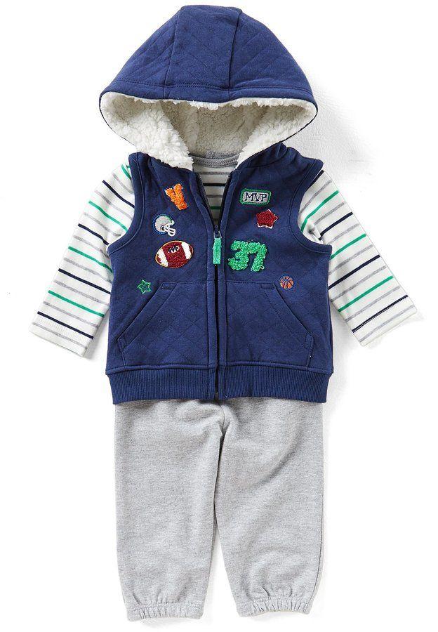 ad13e7c04 Little Me Baby Boys 3-12 Months Patch Vest