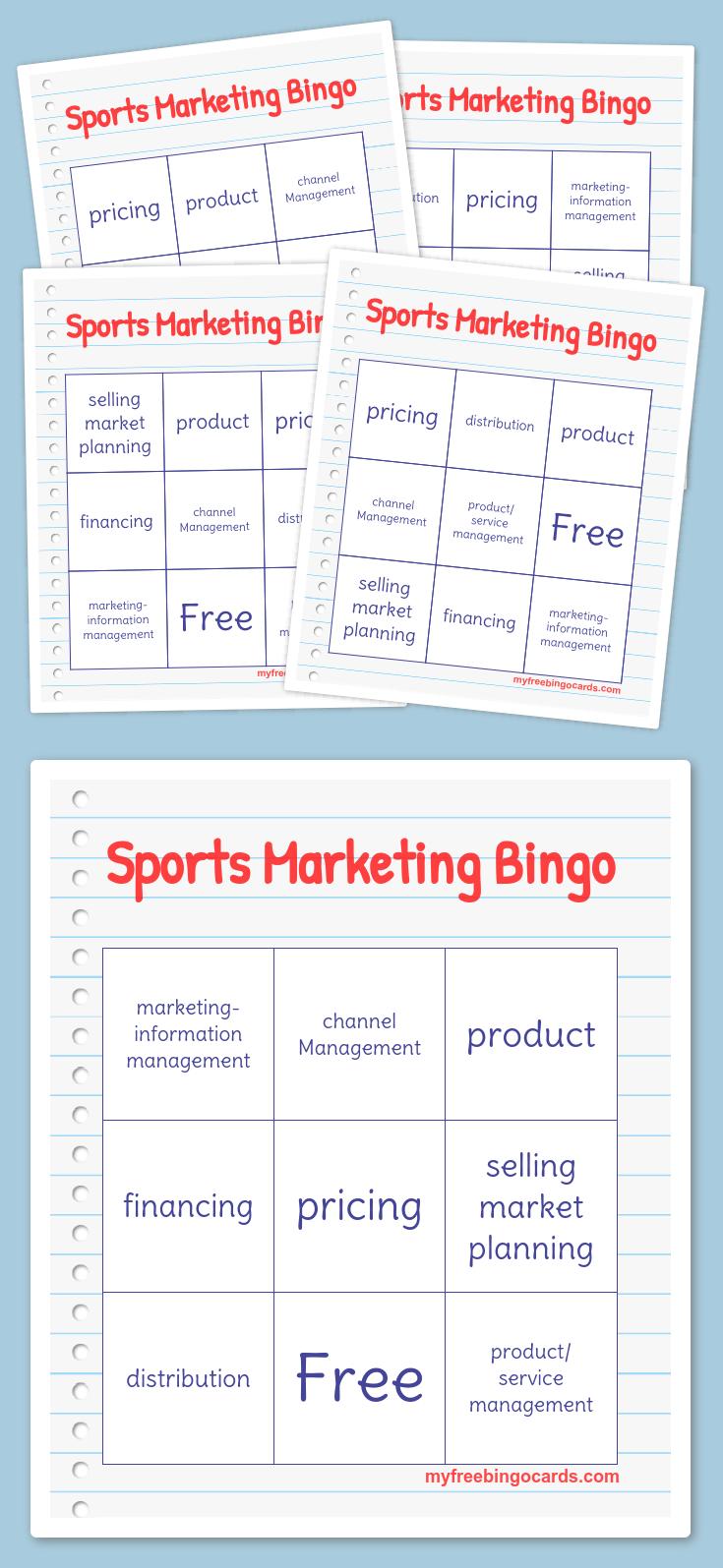 Free Printable Bingo Cards Bingo cards, Bingo card