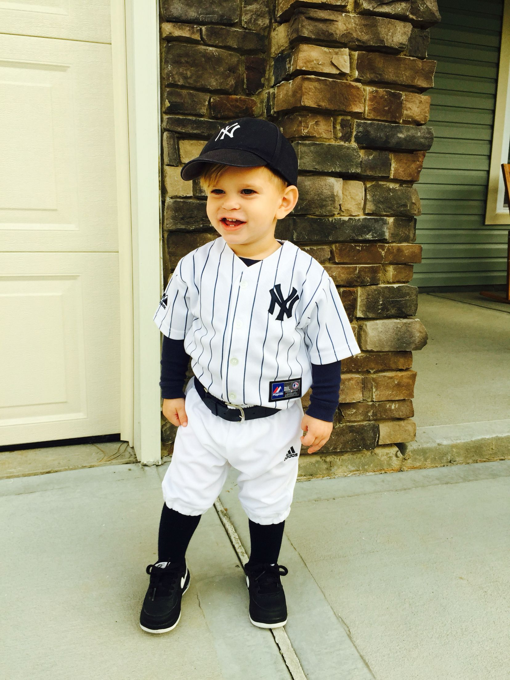 Cole David 2014: Halloween costume toddler baseball player, Yankees, Derek Jeter