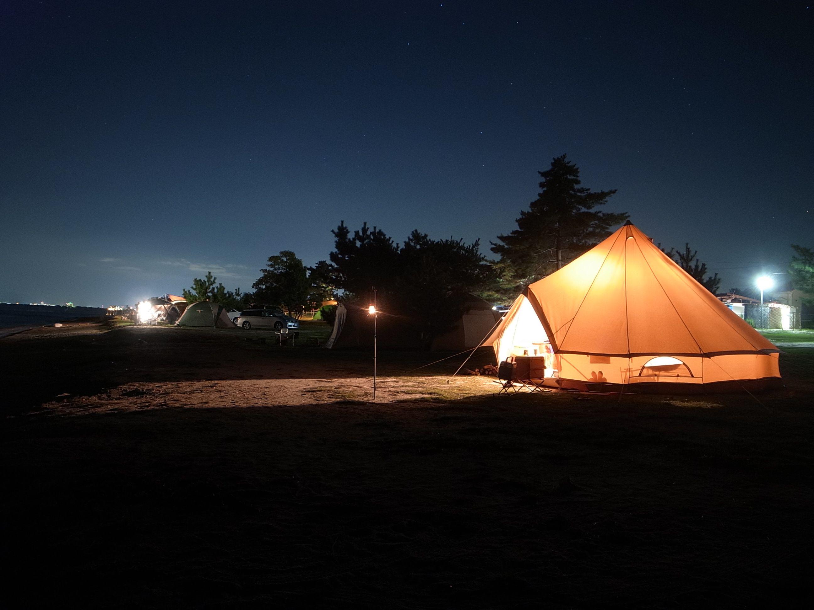 青柳浜キャンプ場 滋賀県大津市 キャンプ場前はびわ湖 水泳場 大津 キャンプ キャンプ場
