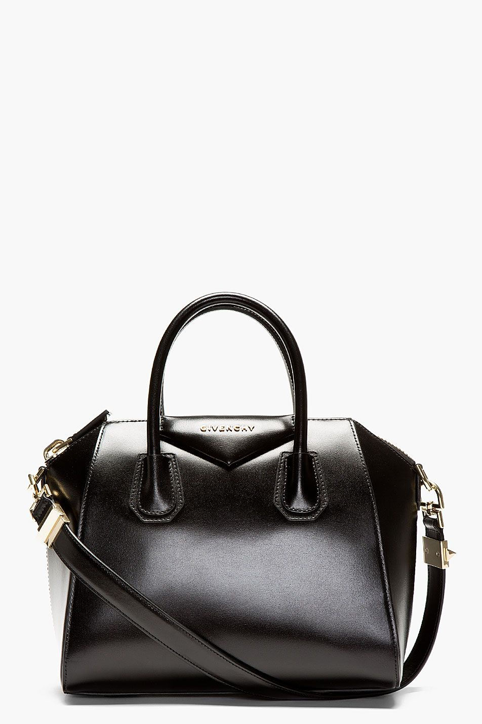f97615173b0b #womens #bags #shoulder bags Givenchy Black Leather Antigona Small Shoulder  Bag