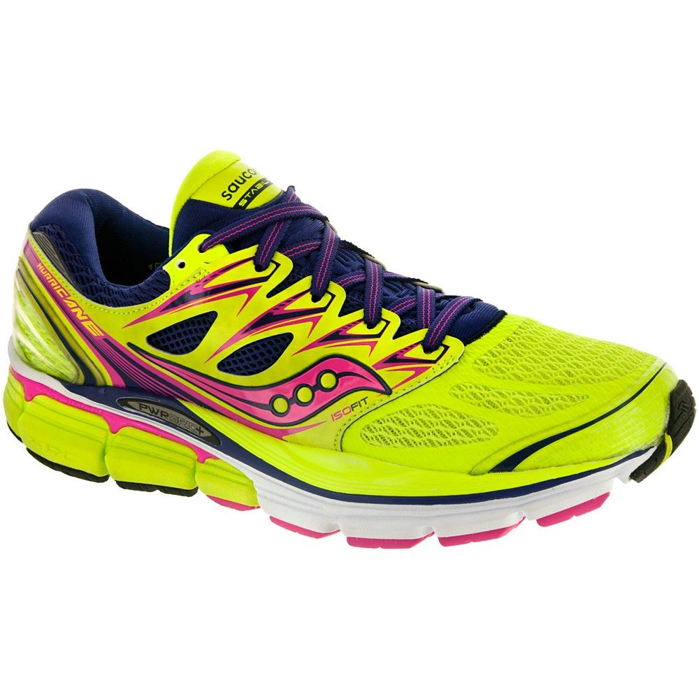 Saucony Hurricane ISO Women's CitronNavyPink at