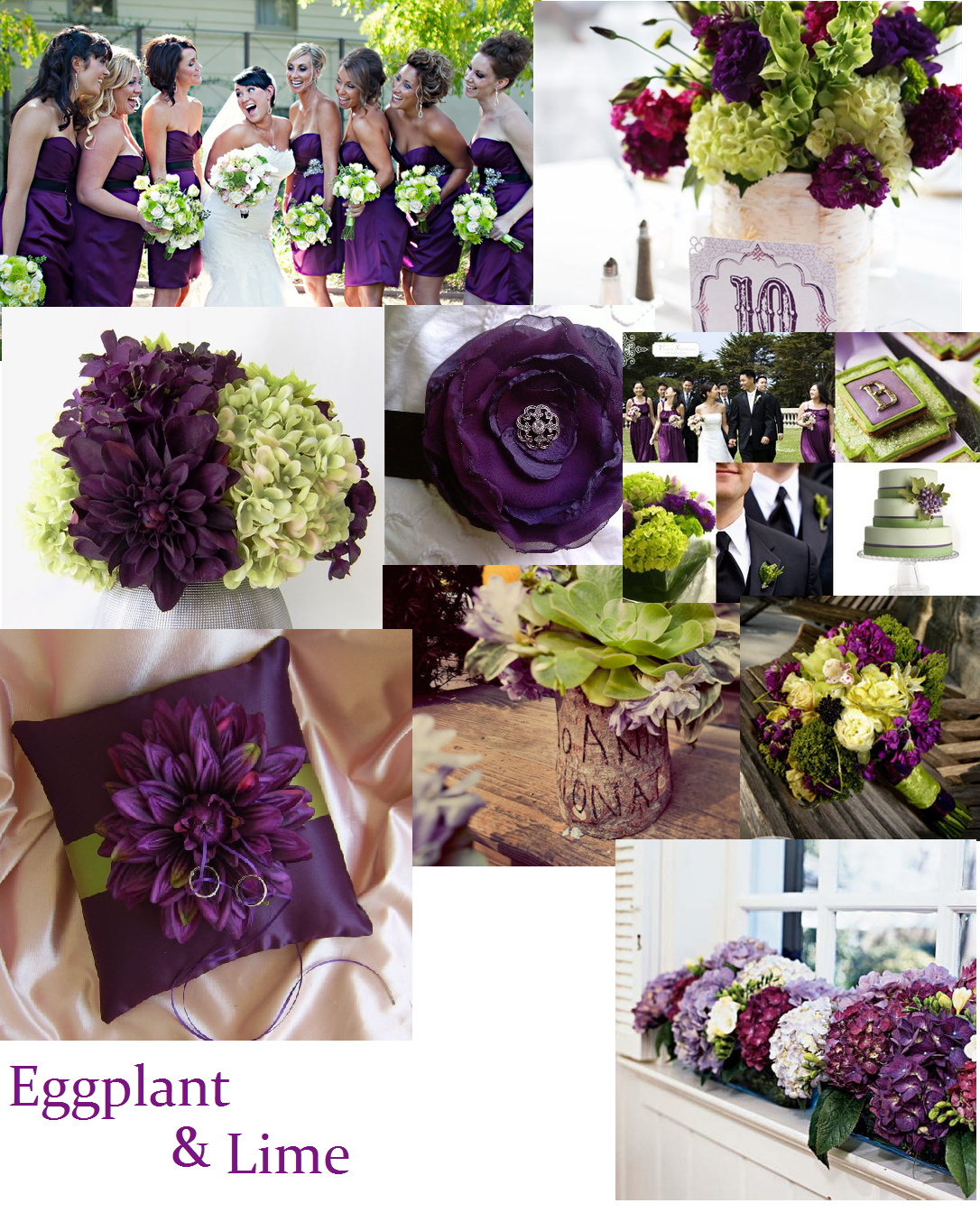 Eggplant Color Schemes: Eggplant & Lime …