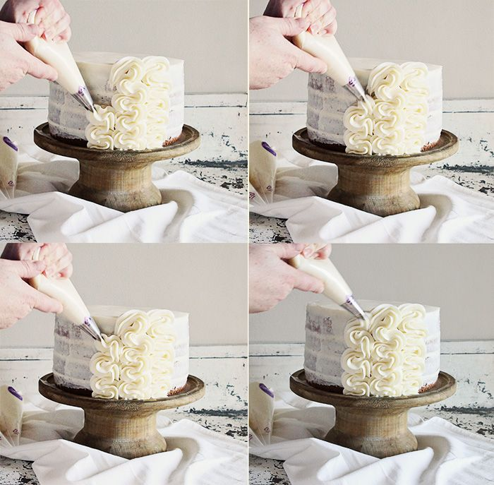 Cake Decorating Ideas Step By Step : frilly cake {a tutorial Decorating, Tutorials and Cake