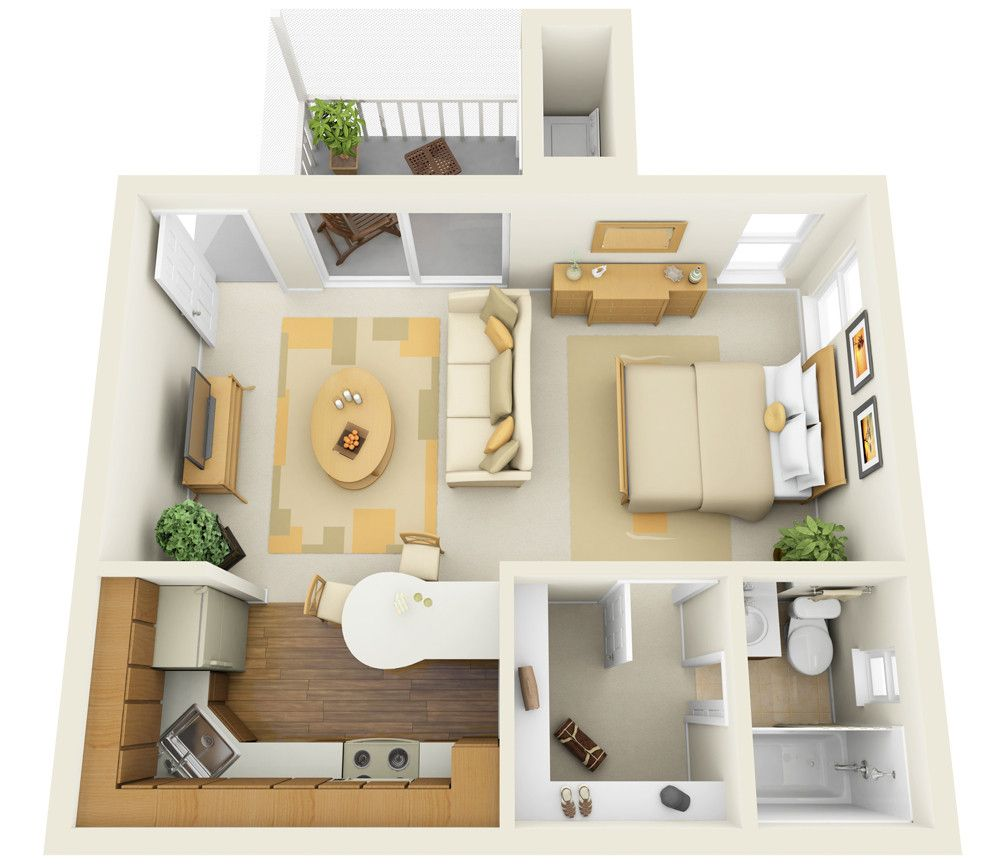 Uncategorized Minimalist Apartment Floor Plan And Design With Open Space Concept 22 Studio Apa Studio Apartment Floor Plans Apartment Floor Plans Studio Layout