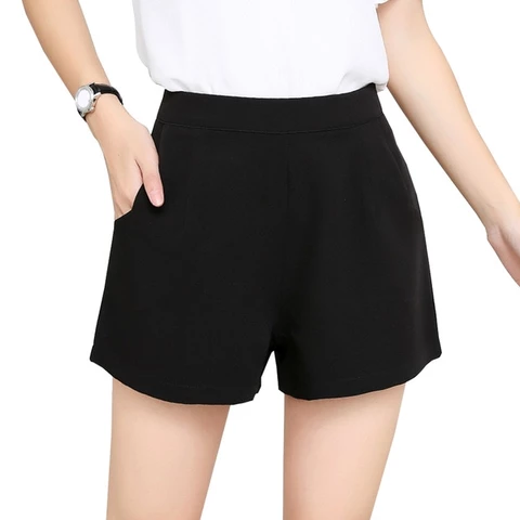 Korean High Waist Solid Chiffon Shorts