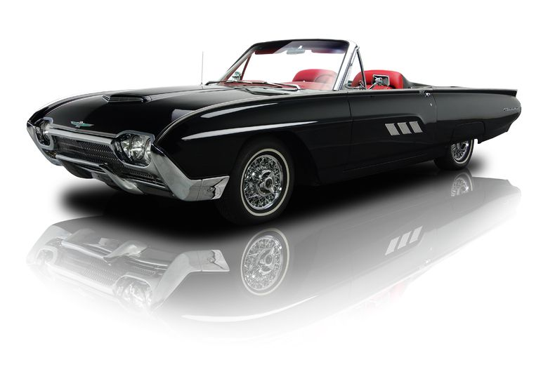 1963 Thunderbird Roadster, Black With Red Upholstery  Dream Car Much?