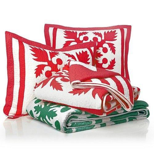 Carleton Varney Cotton Bedding Decor Piece Home Island Breeze Hawaiian 3-piece Quilt Set