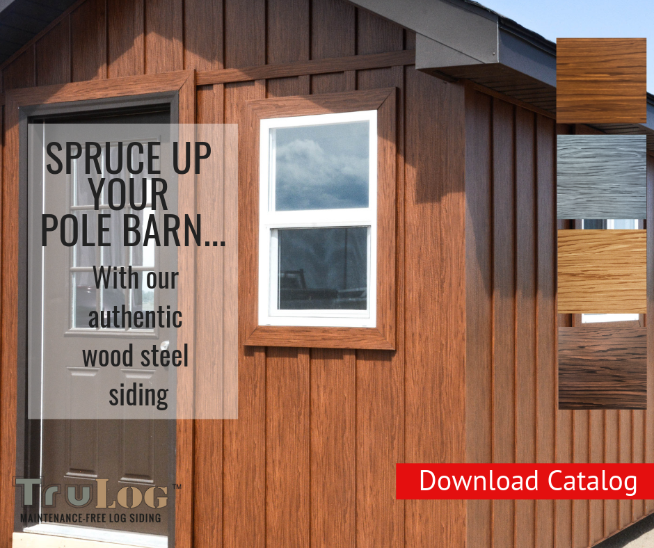 Steel Board And Batten Steel Siding Log Siding Barndominium