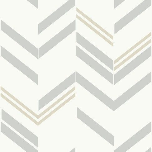 Chevron Peel & Stick Wallpaper Graystripe RoomMates