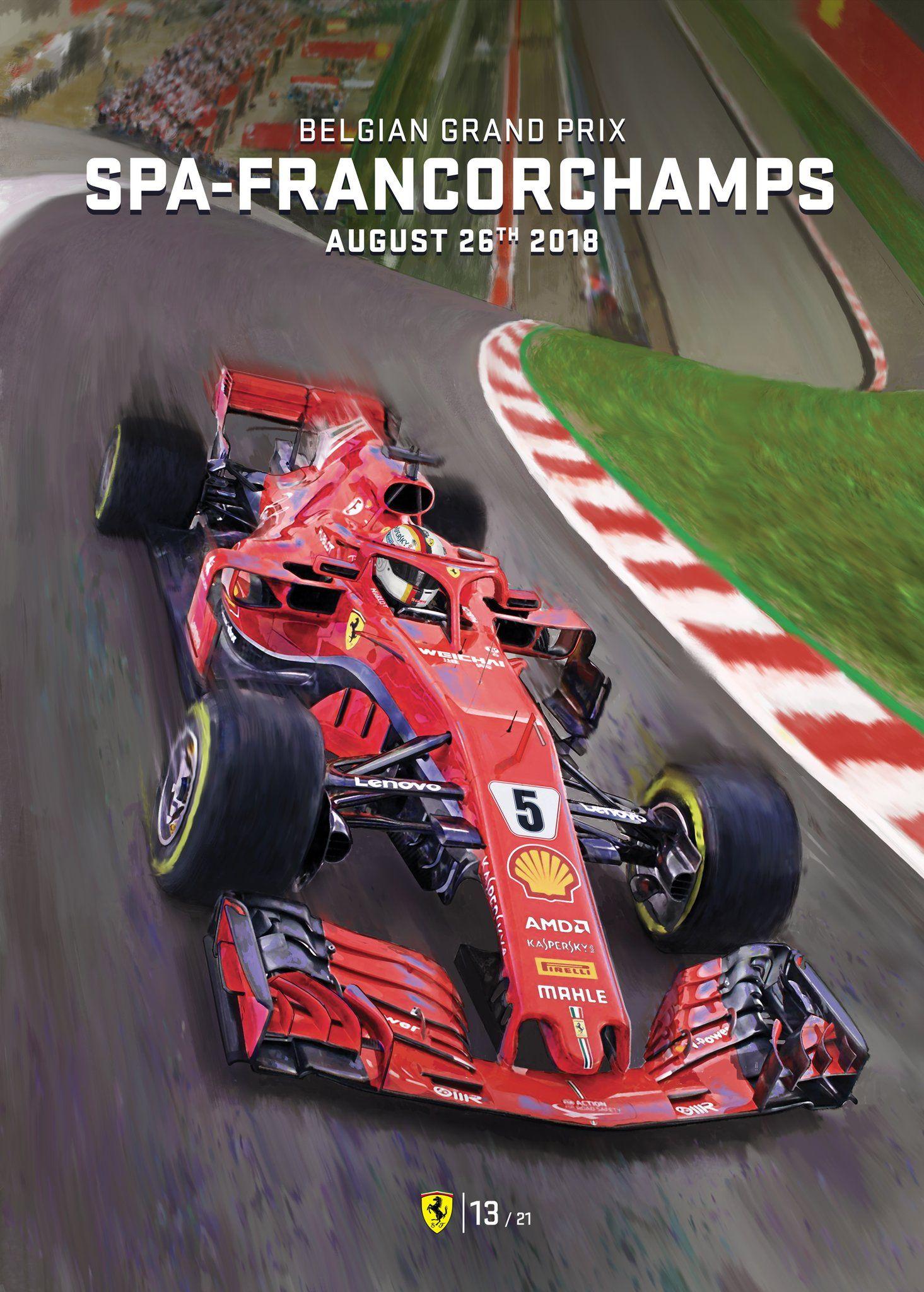Scuderia Ferrari On With Images Grand Prix Posters Belgium