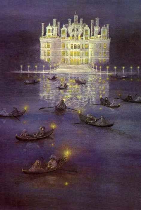 """The Twelve Dancing Princesses"" by Lidia Postma  (via fairytalemood)  how I imagined Hogwarts when I read the books"