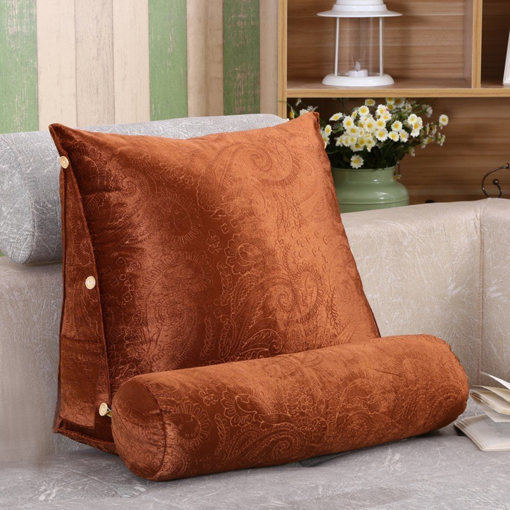 Bedside Triangle Cushion Two Person Backrest Tatami Wooden Sofa