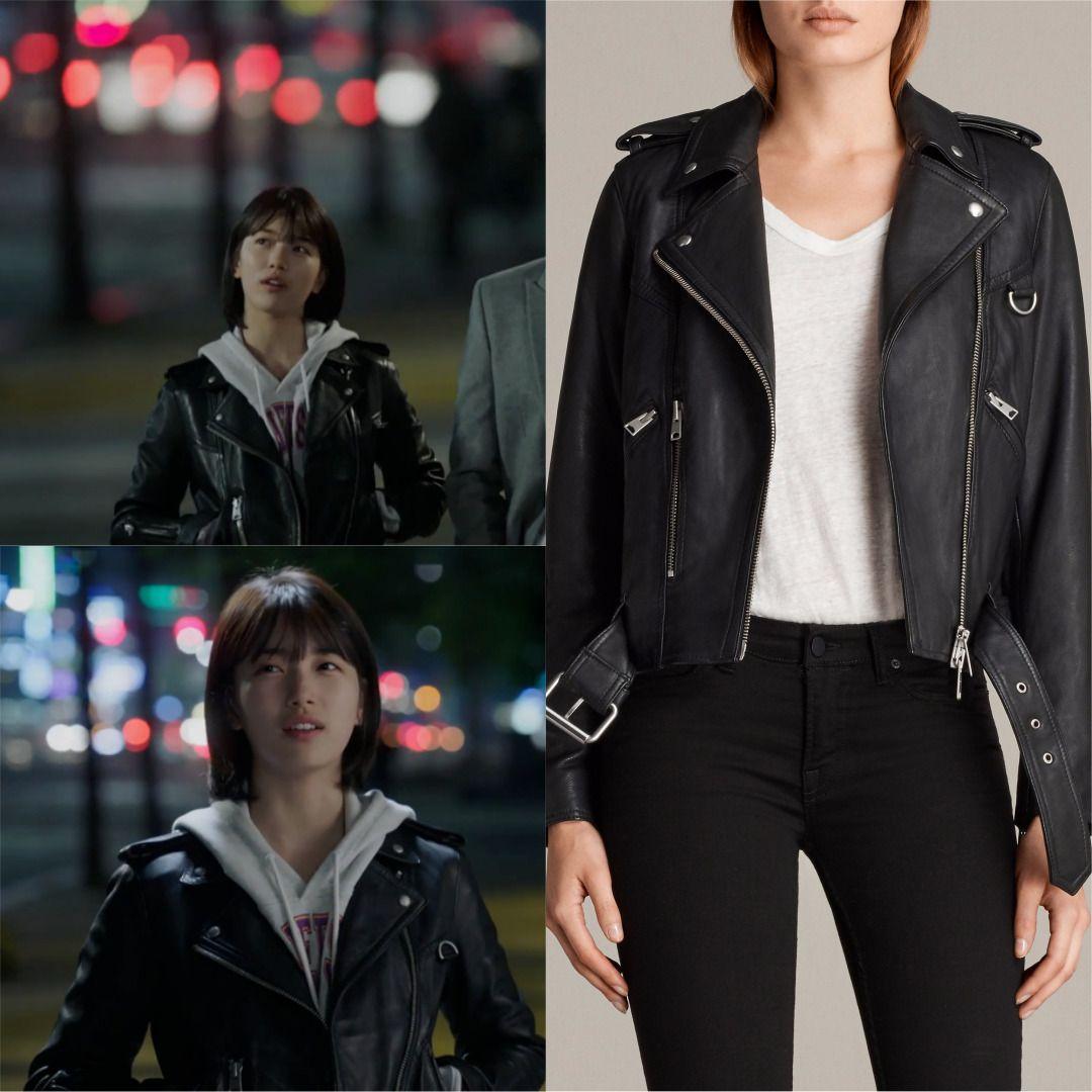 Dramafashion Idol Baesuzy Suzy Pick Allsaints Leather Bikerjacket Womensfashion Koreanactress Sbsdrama K Korean Outfits Fashion Outfits
