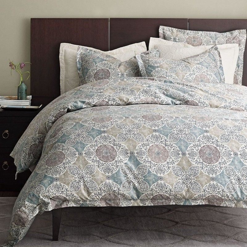Flannel Duvet Cover Covered In Stunning Medallions Making An Impact The Master Or Any Bedroom Your Home Company
