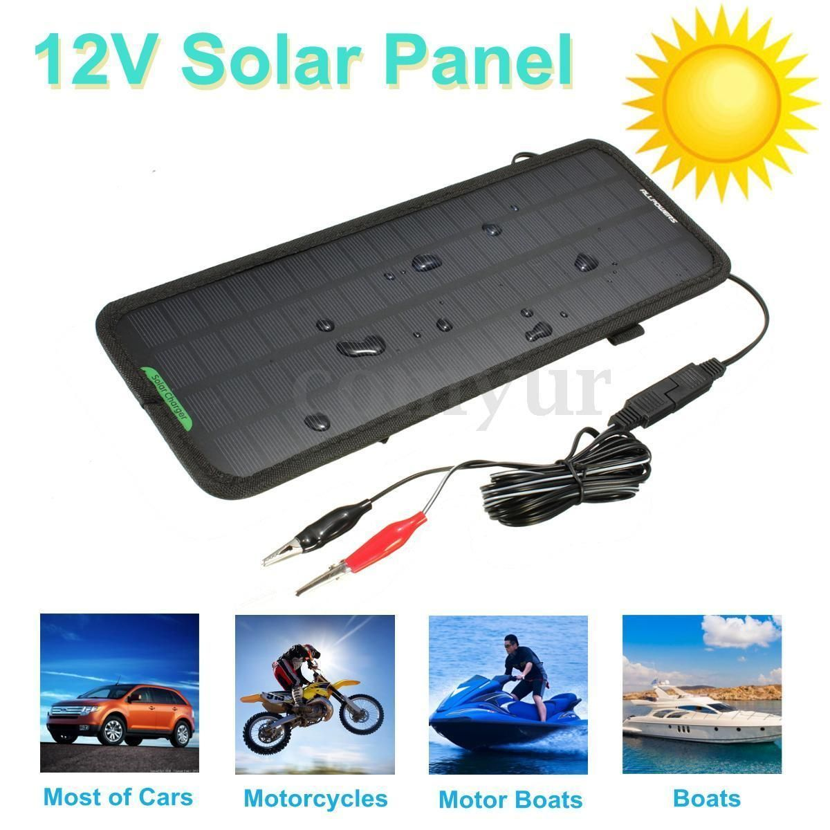 Smart 12v 4 5w Solar Panel Battery Power Backup Charger Car Boat Rv Suv Home Uk Ebay Solar Panel Battery 12v Solar Panel Portable Solar Panels