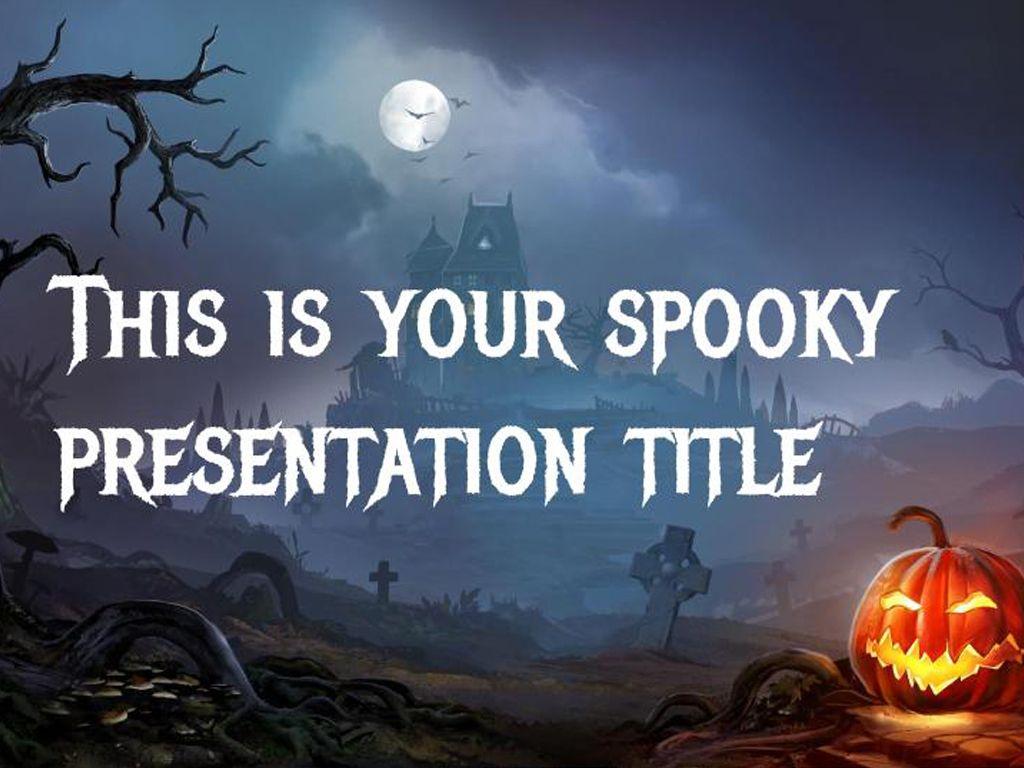 free halloween powerpoint template or google slides theme slide