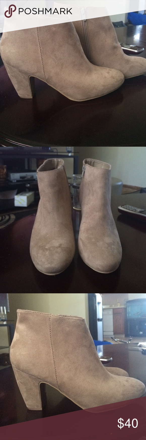 Express Boots Excellent condition, only worn twice. They are size 10 sand/nude color Express Shoes Ankle Boots & Booties