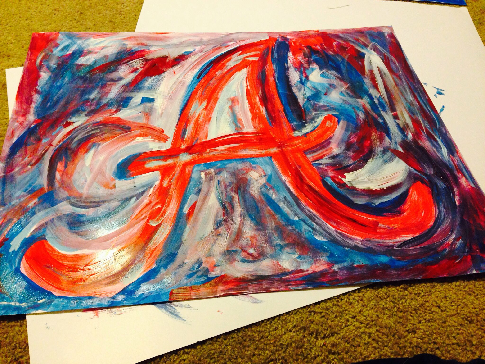 Atlanta Braves Painting I Made Tonight Baseball Art Painting Art