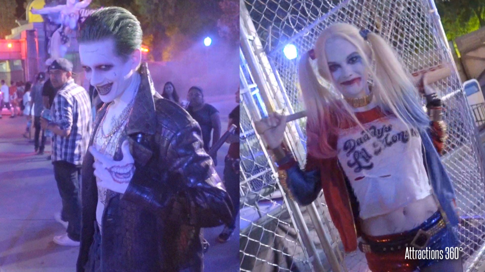 New suicide squad six flags fright fest meet greet joker suicide squad characters meet greet cosplay six flags fright fest joker harley quinn kristyandbryce Gallery