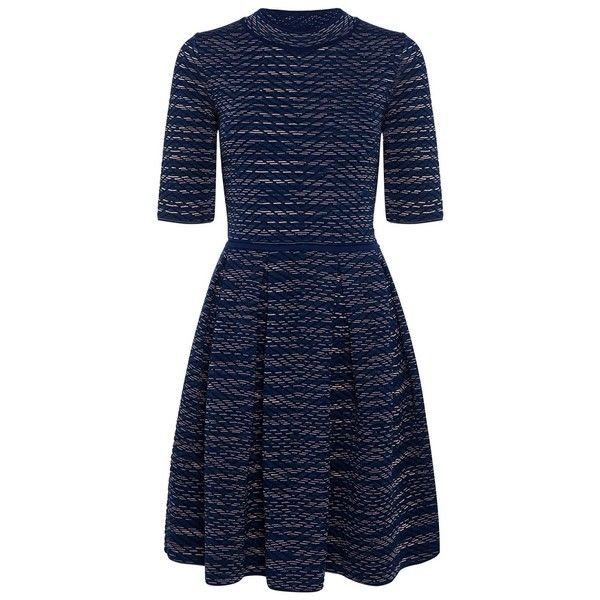 M Missoni - Spacedye Skater Dress (€760) ❤ liked on Polyvore featuring dresses, textured knit dress, textured dress, knit skater dress, knit dress and skater dress